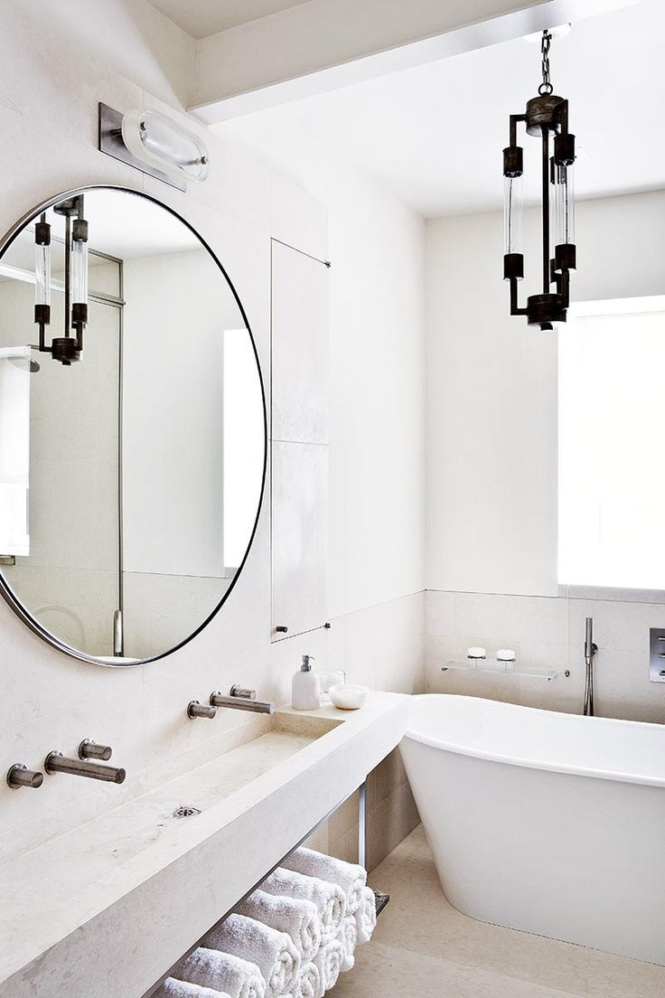 Giant Wall Mirror in bathroom