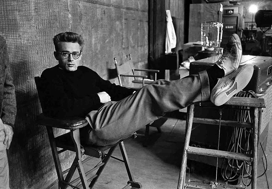 James Dean style wearing sneakers