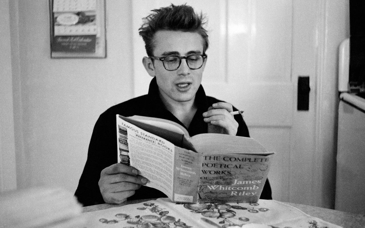 James Dean Reading The Complete Poetical Works Of James Whitcomb Riley