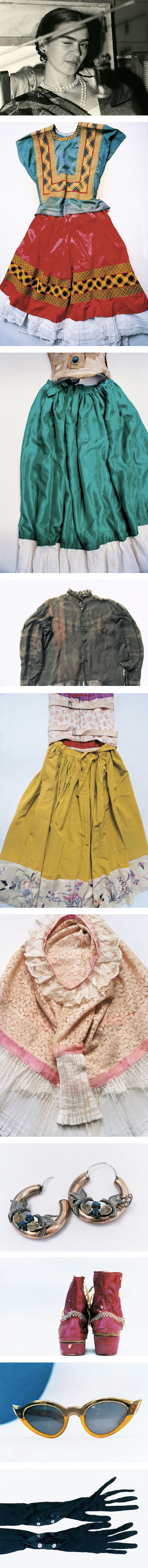 Frida Kahlo's colorful wardrobe is revealed after being hidden for 50 years